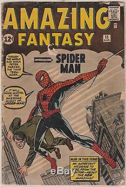 Silver age comics Amazing Fantasy #15 vol 1 1962-1st Spider-man appearance