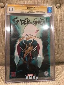 Spider Gwen 1 Cgc 9.8 3x Ss Stan Lee, Latour & Romita-portacio Recalled Variant