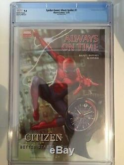 Spider-Gwen Ghost Spider #1 Jee Hyung Lee 1100 Variant CGC 9.8 MARVEL RARE NM