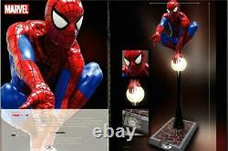 Spider Man Statue on Light Post Life Size Prop with Working Light Marvel Display