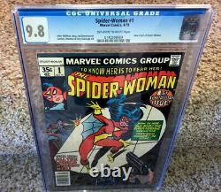 Spider-Woman #1 CGC 9.8 Marvel Comic Book Key New Origin Jessica Drew