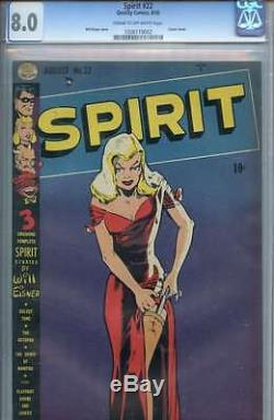 Spirit #22 Cgc 8.0 Cr/ow Pages