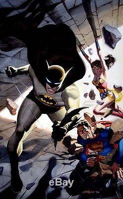 Steve Rude painting Batman, Superman, Wonder Woman original art LOW START PRICE