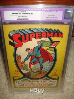 Superman #1 CGC 5.5 (R) 1939 Mega key Golden Age! Not Trimmed! Cm