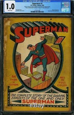 Superman #1 CGC FR 1.0 Brittle pages