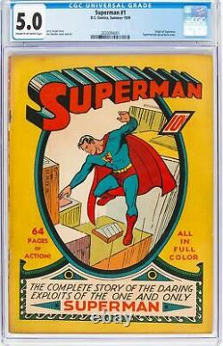 Superman #1 (DC, 1939) Comic Book VG/FN 5.0 CGC Cream to Off-White Pages