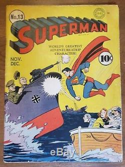 Superman 13 NICE very good fine copy! Recieve your book in 7 days or its FREE