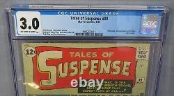 TALES OF SUSPENSE #39 (Iron Man 1st app. & origin) CGC 3.0 Marvel Comics 1963