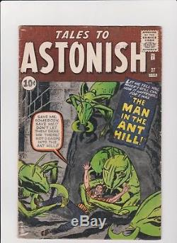 TALES TO ASTONISH #27 1st Appearance of Ant-Man NICE KEY ISSUE -STAN LEE, J. KIRBY
