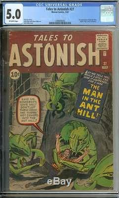 Tales To Astonish #27 Cgc 5.0 Ow Pages
