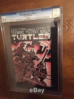 TEENAGE MUTANT NINJA TURTLES #1 First Print TMNT CGC 9.4 White Pages