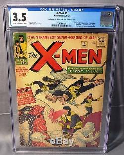 THE X-MEN #1 (First appearance & Origin) CGC 3.5 VG- Marvel Comics 1963 Uncanny