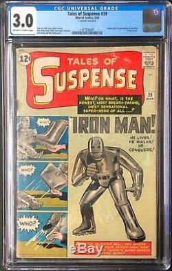 Tales of Suspense #39 CGC 3.0 (Mar 1963, Marvel) Iron Man 1st App