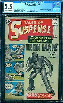 Tales of Suspense 39 CGC 3.5 1st Iron Man
