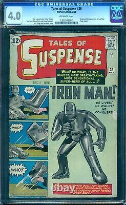 Tales of Suspense 39 CGC 4.0 1st Iron Man