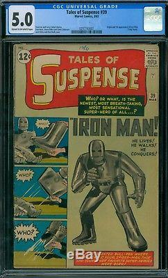 Tales of Suspense 39 CGC 5.0 1st Iron Man