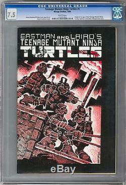 Teenage Mutant Ninja Turtles #1 CGC 7.5 (W) 1st Print Origin & 1st Appearance