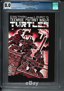 Teenage Mutant Ninja Turtles #1 CGC 8.0 High Grade TMNT First Printing