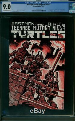 Teenage Mutant Ninja Turtles #1 CGC 9.0 1984 Mirage 1st Print! Key Copper H12 cm