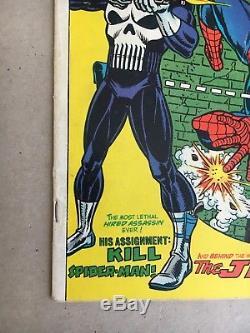 The Amazing Spider-Man #129 (Feb 1974, Marvel) 1st Punisher + Jackal appearance