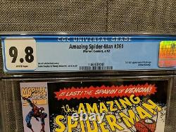The Amazing Spider-Man #361 CGC 9.8 WP Clean Book