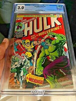 The Incredible Hulk 181 1974 CGC 3.0 1st full Wolverine WOW