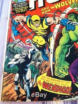 The Incredible Hulk #181-1st full appearance of Wolverine Marvel with Value Stamp