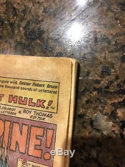 The Incredible Hulk #181 NO COVER 1st WOLVERINE