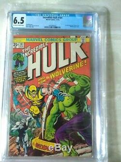 The Incredible Hulk #181 (Nov 1974, Marvel) 1st Wolverine CGC 6.5