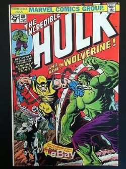 The Incredible Hulk #181 (Nov 1974, Marvel) 1st full app. Wolverine 8.0 VF