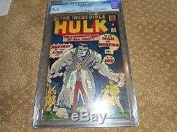 The Incredible Hulk Marvel Comic #1 May 1962 CGC Universal Grade 4.5