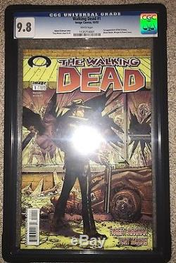 The Walking Dead #1 CGC 9.8 Image Comics Robert Kirkman Tony Moore White Pages