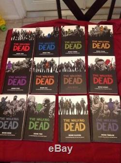 The Walking Dead Books # 1-12 Hardcover Black & White Graphic Novels Kirkman