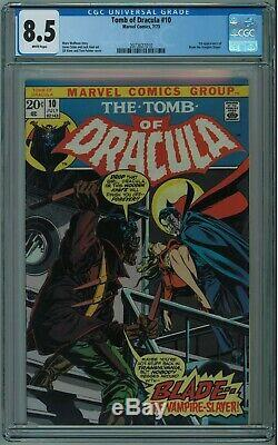 Tomb Of Dracula #10 Cgc 8.5 1st Blade High Grade Hot Book White Pgs 1973
