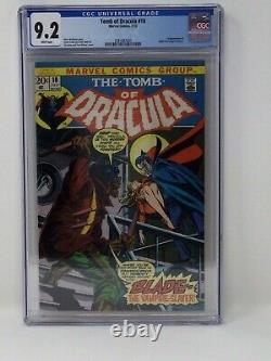 Tomb of Dracula #10 CGC 9.2 White Pages 1st Appearance Of Blade New Case