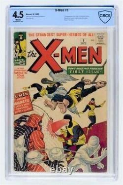 Uncanny X-men #1 CBCS 4.5 Silver Age September 1963 Comic Book WHITE PAGES