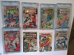 Unique 450 silver/modern age comic book collection CGC graded hero vs. Hero