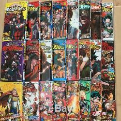 Used MANGA My Hero Academia Comic JP Book Vol. 1-24 set lot Boku no Hero Academia