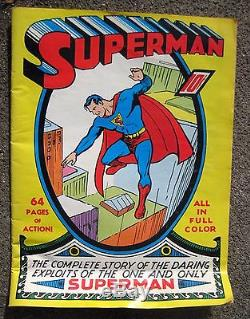 VINTAGE 1939 SUPERMAN NUMBER #1 COMIC BOOK DETECTIVE COMICS DC FIRST