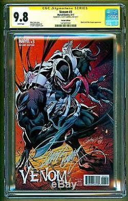 Venom #3 (2017 Marvel) 1300 Variant Signed J Scott Campbell CGC 9.8 NO RESERVE