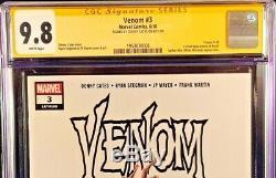 Venom 3 Cgc Ss 9.8 Donny Cates Variant 1st Knull Spider-man Carnage Marvel Comic