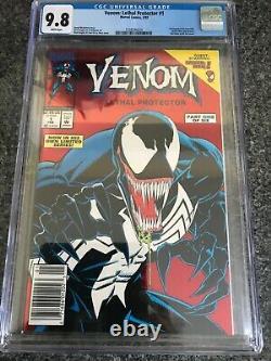 Venom Lethal Protector 1 (1993) CGC 9.8. Rare Newsstand Variant 1st Venom