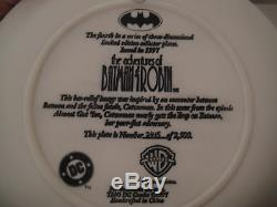 WARNER Bros BATMAN CATWOMAN COLLECTOR'S PLATE 3D JLA statue Bust Joker Animated