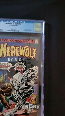 WEREWOLF BY NIGHT #32 CGC 8.0 1ST APPEARANCE of MOON KNIGHT Key Book Disney+