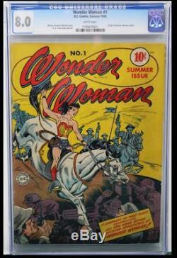 WONDER WOMAN #1 CGC 8.0 WHITE PAGES Wonder Woman Begins! #1199479001
