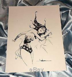 Wonder Woman Diana Princeoriginal Pencil & Brushed Ink Sketch Art By Jae Lee