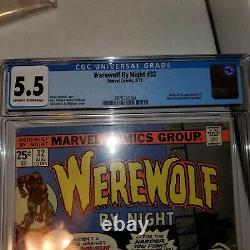 Werewolf by night 32 CGC Graded 5.5 (first appearance of moonknight) key book