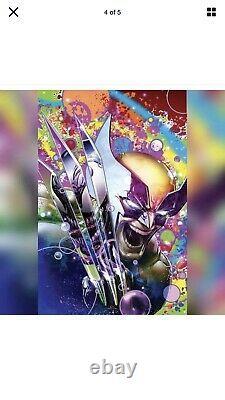 Wolverine #8 Clayton Crain Third Eye Blacklight Variant Virgin Cover In Hand