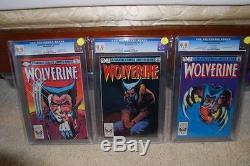 Wolverine Limited #1 #2 #3 CGC 9.9 MINT SET! 1982 WP! X-Men! C3 cm