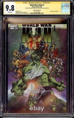 World War Hulk 1 Cgc 9.8 Ss Stan The Man Lee + Michael Turner Beautiful Book
